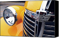 Unique Cars Canvas Prints - Yellow Chevy Canvas Print by Steven Milner