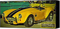 Autographed Art Canvas Prints - Yellow Cobra Canvas Print by Gwyn Newcombe