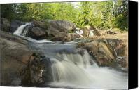 Michigan Waterfalls Canvas Prints - Yellow Dog Falls 3 Canvas Print by Michael Peychich