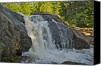 Michigan Waterfalls Canvas Prints - Yellow Dog Falls 4192 Canvas Print by Michael Peychich