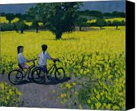 Rapeseed Canvas Prints - Yellow Field Canvas Print by Andrew Macara