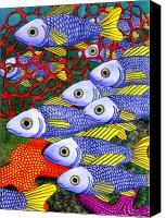 Fish Canvas Prints - Yellow Fins Canvas Print by Catherine G McElroy