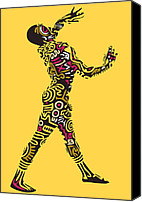 Popstract Canvas Prints - Yellow Haring Canvas Print by Kamoni Khem
