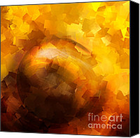 Perceptive Canvas Prints - Yellow Impact Canvas Print by Ann Croon