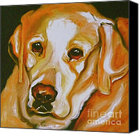 Reproduction Canvas Prints - Yellow Lab Amazing Grace Canvas Print by Susan A Becker