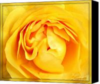 Northwest Art Canvas Prints - Yellow Petals Canvas Print by Cathie Tyler