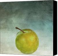 Still Life Digital Art Canvas Prints - Yellow plum Canvas Print by Bernard Jaubert