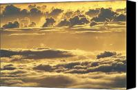 Mauna Kea Canvas Prints - Yellow Sunset Canvas Print by Carl Shaneff - Printscapes