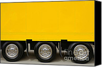 Equipment Canvas Prints - Yellow Truck Canvas Print by Carlos Caetano