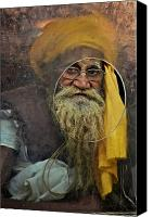 "\""painterly Photography\\\"" Photo Canvas Prints - Yellow Turban at the Window Canvas Print by Valerie Rosen"