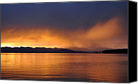 Yellowstone Park Canvas Prints - Yellowstone Lake Sunrise II Canvas Print by Bruce Gourley