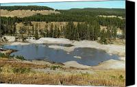 Yellowstone Park Canvas Prints - Yellowstone Mineral ponds Canvas Print by Michael Peychich