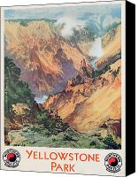 Thomas Moran Canvas Prints - Yellowstone Park Canvas Print by Thomas Moran
