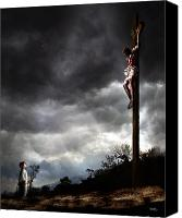 Religious Mixed Media Canvas Prints - Yes Jesus Loves Me Canvas Print by Mark Spears