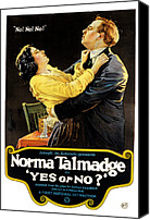 Subject Poster Art Canvas Prints - Yes Or No, Norma Talmadge, Lowell Canvas Print by Everett