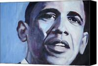 Barack Obama  Canvas Prints - Yes We Can Canvas Print by Fiona Jack