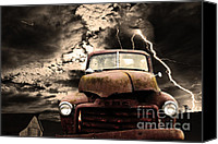 Old Trucks Photo Canvas Prints - Yesterday Came Early . Tomorrow Is Almost Over Canvas Print by Wingsdomain Art and Photography