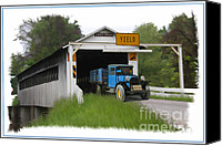 Old Trucks Canvas Prints - Yield To Cover Canvas Print by Tom Griffithe