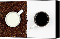 Layered Canvas Prints - Yin And Yang Coffee And Milk Canvas Print by Gert Lavsen Photography
