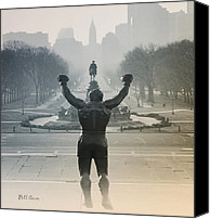 Philadelphia Canvas Prints - Yo Adrian Canvas Print by Bill Cannon