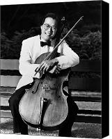 1980s Canvas Prints - Yo-yo-ma (1955- ) Canvas Print by Granger