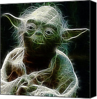 Empire Photo Canvas Prints - Yoda Canvas Print by Paul Ward