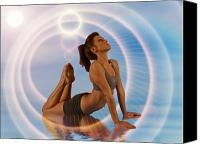 Yoga Canvas Prints - Yoga Girl 1209206 Canvas Print by Rolf Bertram
