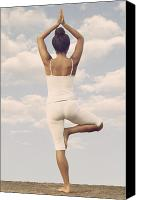 African American Female Canvas Prints - Yoga Canvas Print by Joana Kruse