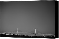 Bay Bridge Canvas Prints - Yokohama Bay Bridge Canvas Print by Kiyoshi Noguchi