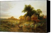Joseph Farquharson Canvas Prints - Yon Yellow Sunset Dying in the West Canvas Print by Joseph Farquharson