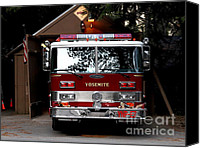 Old Trucks Canvas Prints - Yosemite California Fire Engine . 7D6142 Canvas Print by Wingsdomain Art and Photography