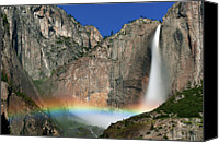  Yosemite Canvas Prints - Yosemite Falls Canvas Print by Jean Day Landscape Photography