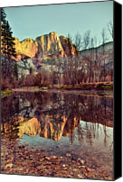 Upper Canvas Prints - Yosemite Reflection Canvas Print by Irene Y.