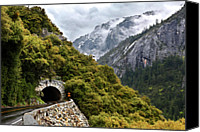 Road Travel Canvas Prints - Yosemite Tunnel Canvas Print by Jill Buschlen
