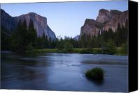  Yosemite Canvas Prints - Yosemite Twilight Canvas Print by Mike  Dawson