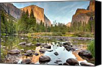  Yosemite Canvas Prints - Yosemite Valley Reflected In Merced River Canvas Print by Ben Neumann