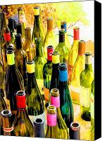 Wine Canvas Prints - You are invited to a wine tasting... Canvas Print by Margaret Hood