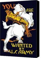Horse Digital Art Canvas Prints - You Are Wanted By US Army Canvas Print by War Is Hell Store