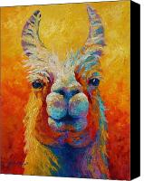 Farm Tapestries Textiles Canvas Prints - You Lookin At Me Canvas Print by Marion Rose
