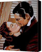 Gable Canvas Prints - You need Kissing Badly Canvas Print by Al  Molina