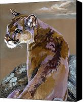 Panther Painting Canvas Prints - You talking to me Canvas Print by J W Baker