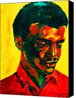 Transform Painting Canvas Prints - Young African Man Canvas Print by Carole Spandau