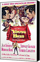 1950s Poster Art Canvas Prints - Young Bess, Stewart Granger, Deborah Canvas Print by Everett