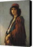 Orientalist Canvas Prints - Young Bohemian Serb Canvas Print by Charles Landelle