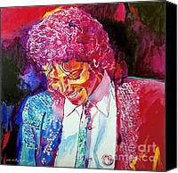 Icon Painting Canvas Prints - Young Michael Jackson Canvas Print by David Lloyd Glover