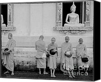 Faith Canvas Prints - Young monks at old temple Canvas Print by Setsiri Silapasuwanchai