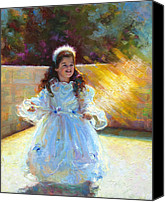 Impressionism Canvas Prints - Young Queen Esther Canvas Print by Talya Johnson