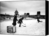 Csx Canvas Prints - Young Russians Playing Hockey Canvas Print by Everett