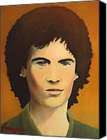 Rock And Roll Canvas Prints - Young Susan Boyle Portrait Canvas Print by Dan Haraga