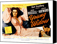 1946 Movies Canvas Prints - Young Widow, Jane Russell, 1946 Canvas Print by Everett